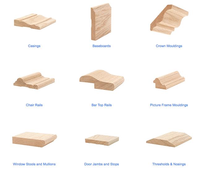 Mouldings & Wood Species   Kendall Woodworks, Inc ...